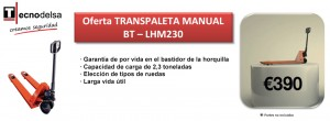 Transpaleta manual BT