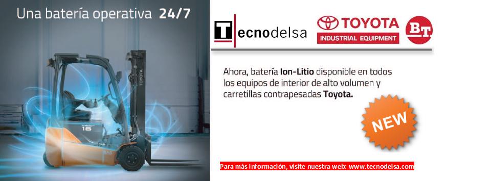 Batería Ion - Litio carretillas Toyota