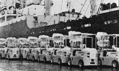 Comienzan las operaciones de exportación, que se expandieron enormemente durante la década de 1960.